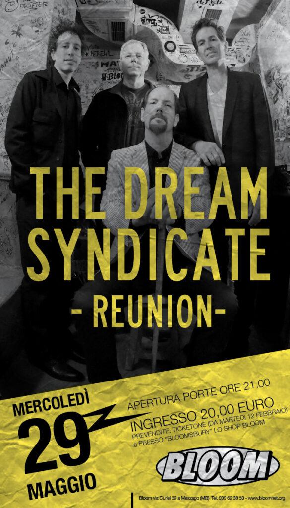 Locandina del concerto dei The Dream Syndacate. Reunion. 2013