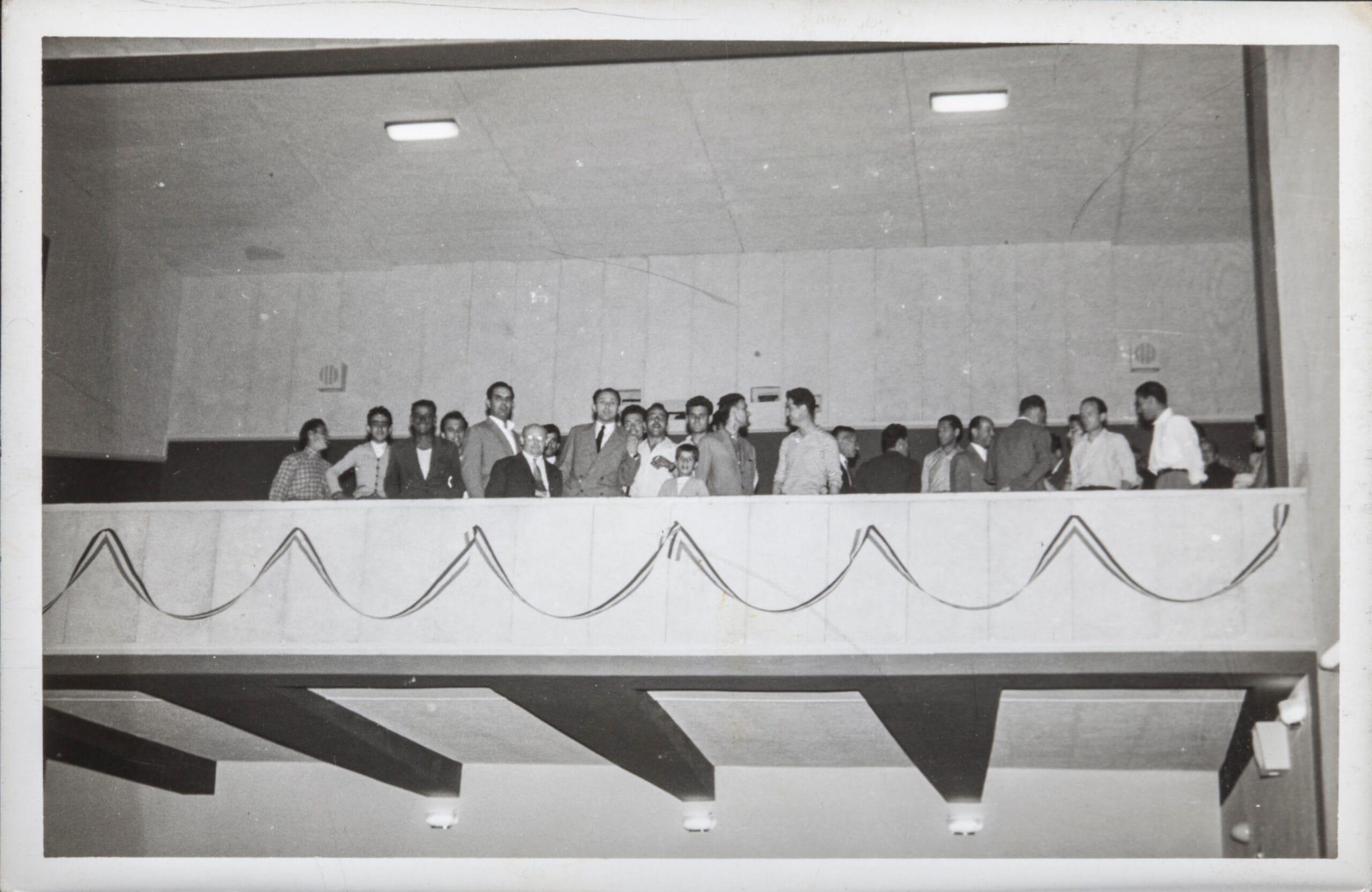 La galleria del cinema il giorno dell'inaugurazione. 1956