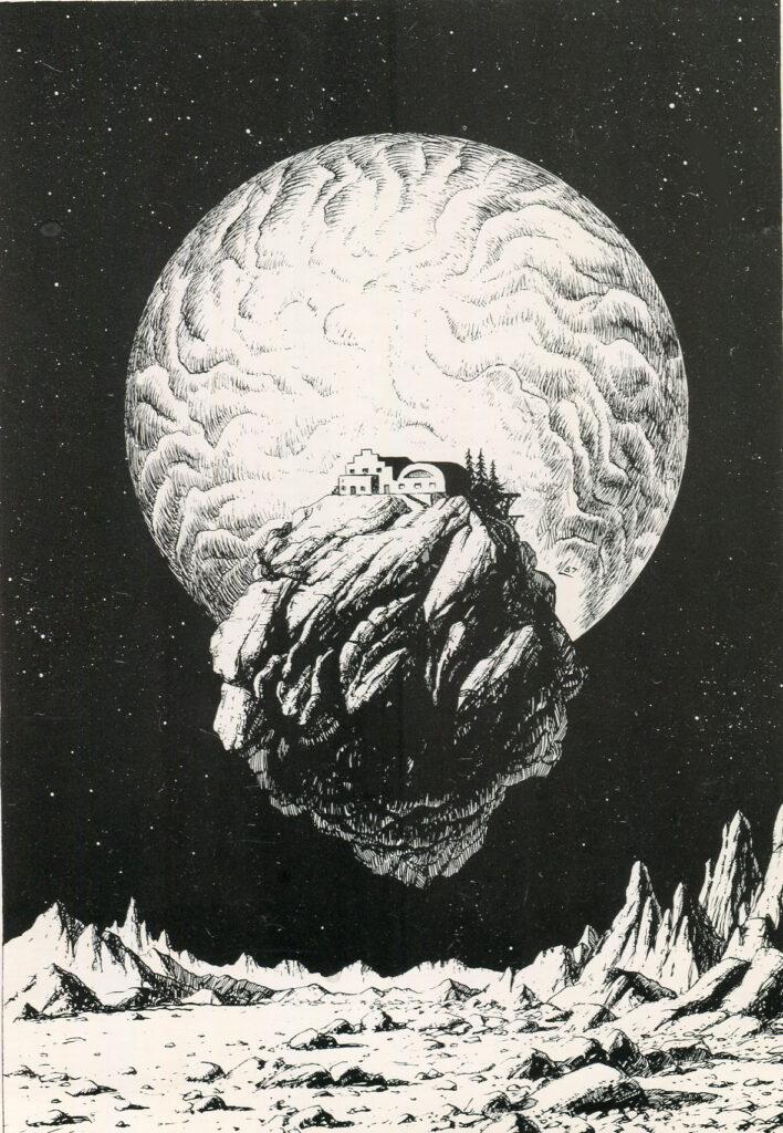 Cartolina Bloom. Disegno di Michelangelo Miani. 1987