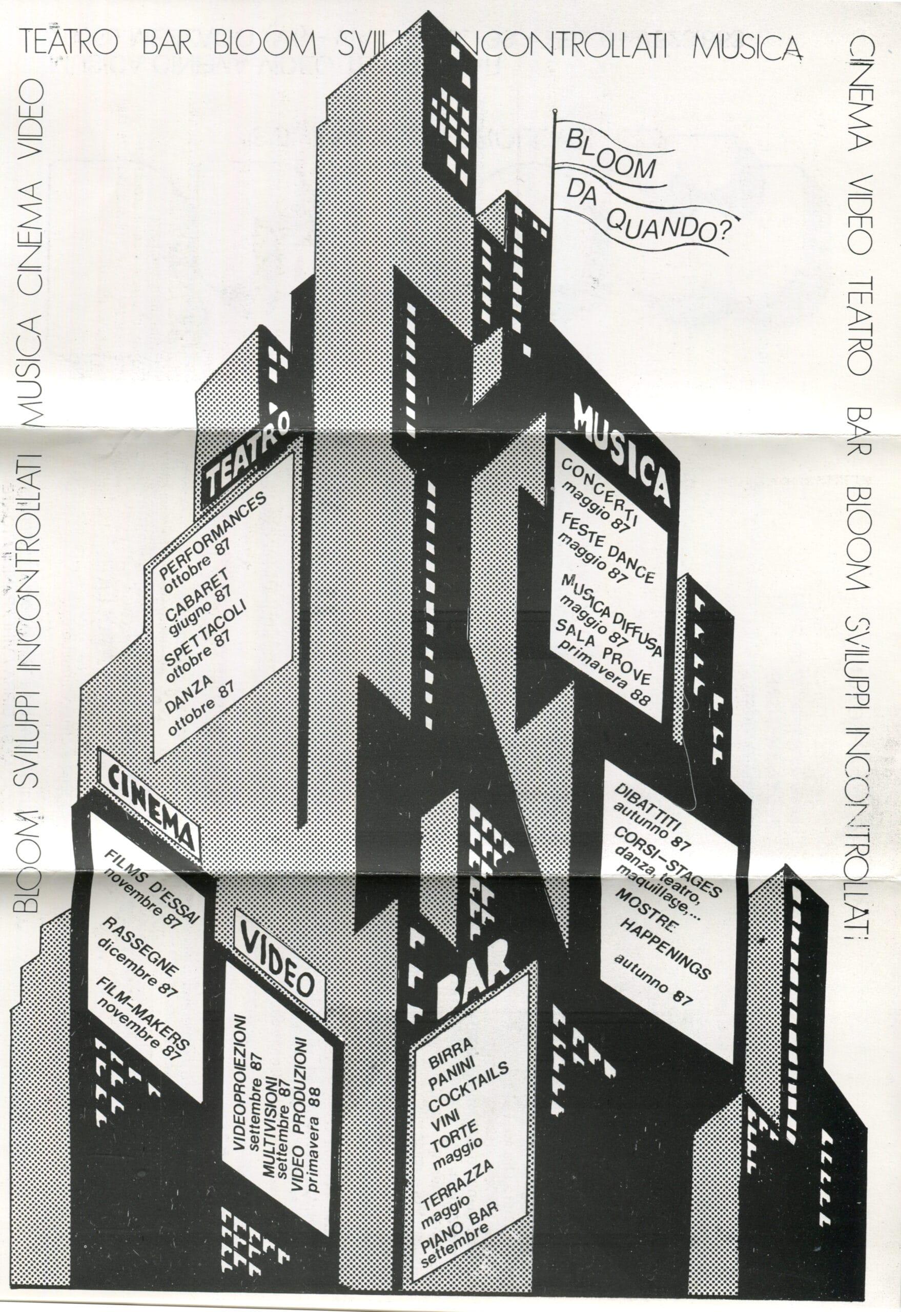 Primo pieghevole. Copertina. 1987