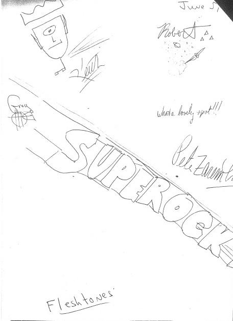 Autografi dei Fleshtones. Unica data in Lombardia. 1987