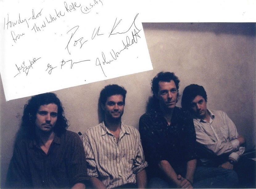 Foto dei Thin White Rope. Autografi dei Thin White Rope. 1988