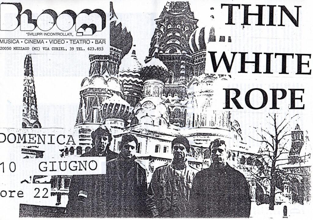 Volantino fotocopiato del concerto dei Thin White Rope. 1990