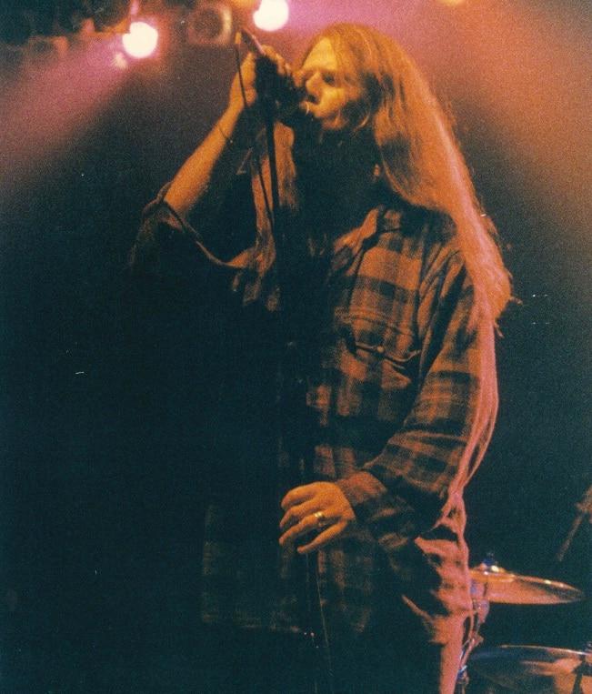 Mark Lanegan sul palco del Bloom. 1989