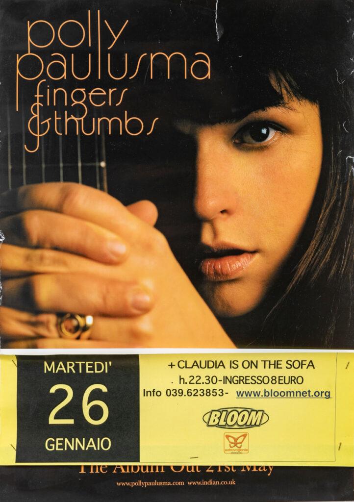 Manifesto del concerto della cantautrice inglese Polly Paulusma. 2010