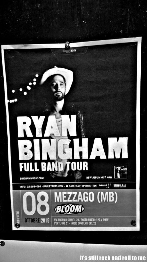 Manifesto del concerto di Ryan Bingham. 2015