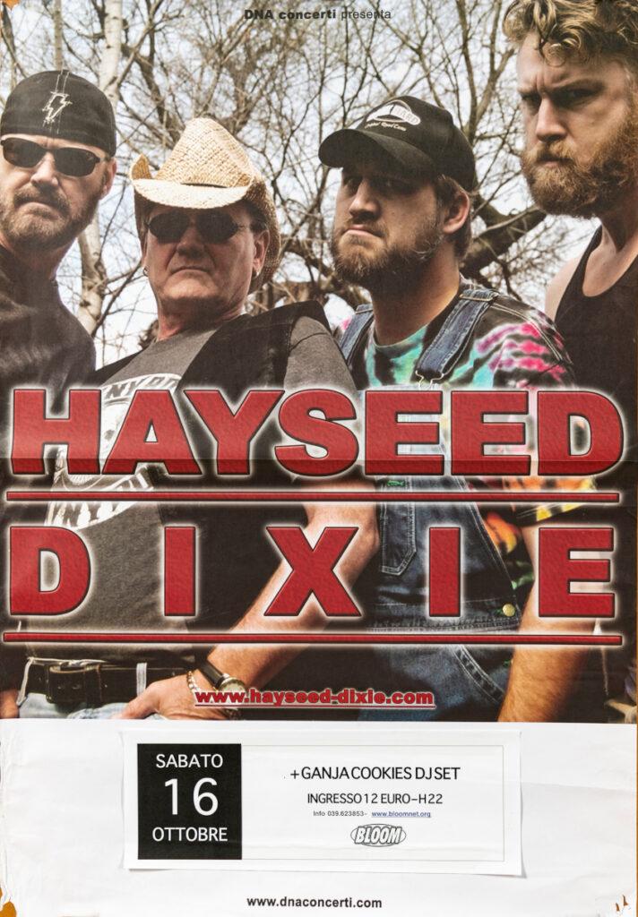 Manifesto del concerto degli Hayseed Dixie. 2011