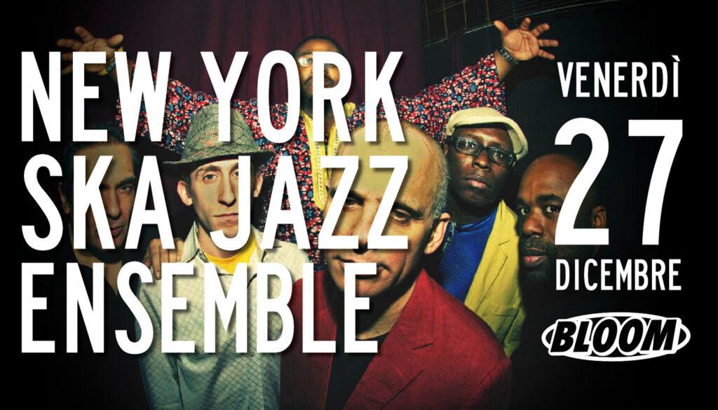 Flyer del concerto del New York Ska Jazz Ensemble, 2016