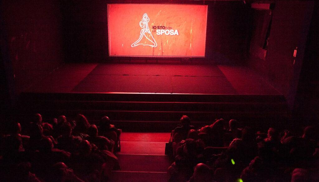 Proiezione del film Io sto con la sposa; alla presentazione sono intervenuti il regista Gabriele Del Grande e il musicista Alberto Morelli. 2014