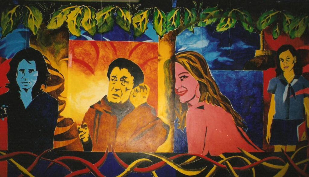 Murale sulle pareti della sala concerti realizzato da un artista cubano. Inizi anni Novanta.
