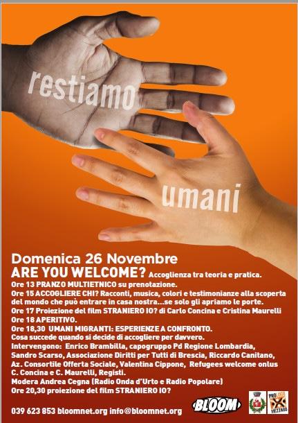 Flyer della rassegna Restiamo umani. 2015