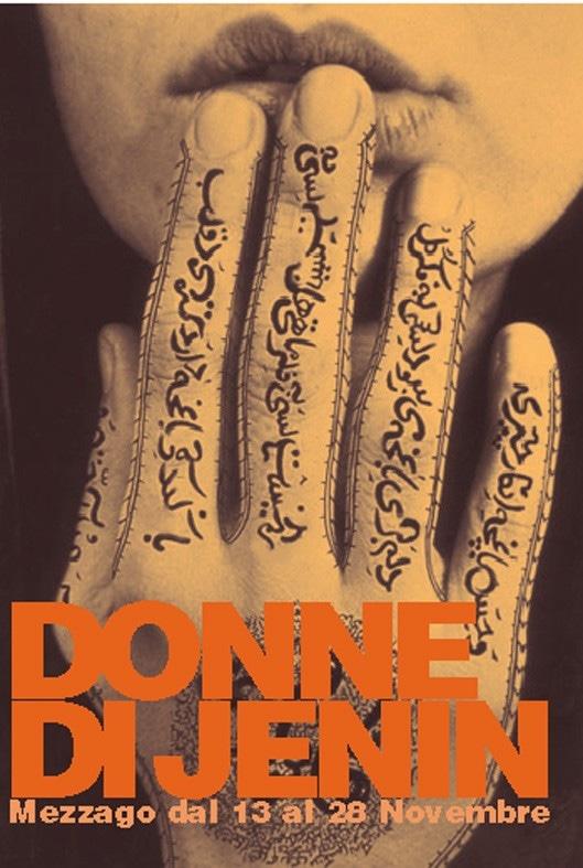 Flyer della rassegna Donne di Jenin. 2004