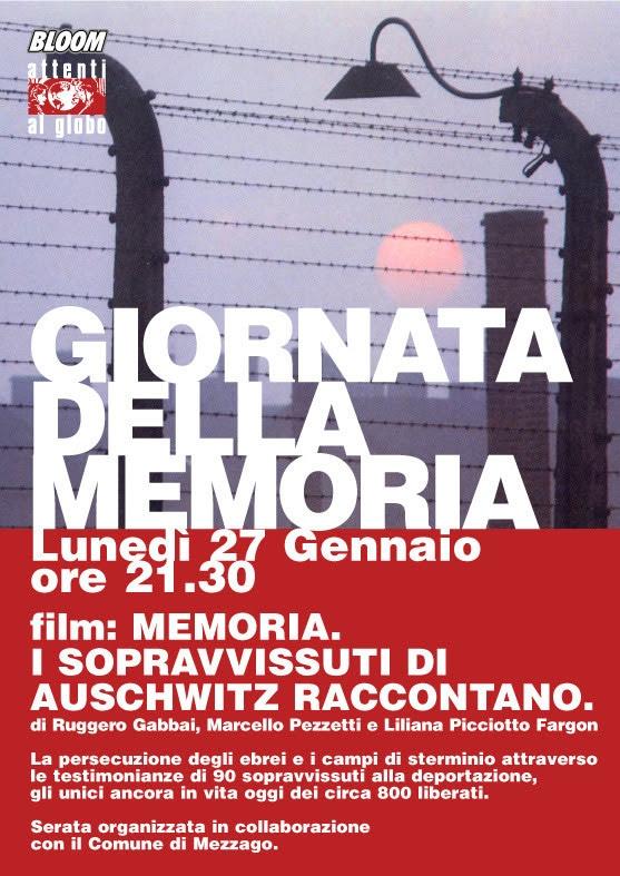Manifesto iniziativa riguardante la Giornata della Memoria