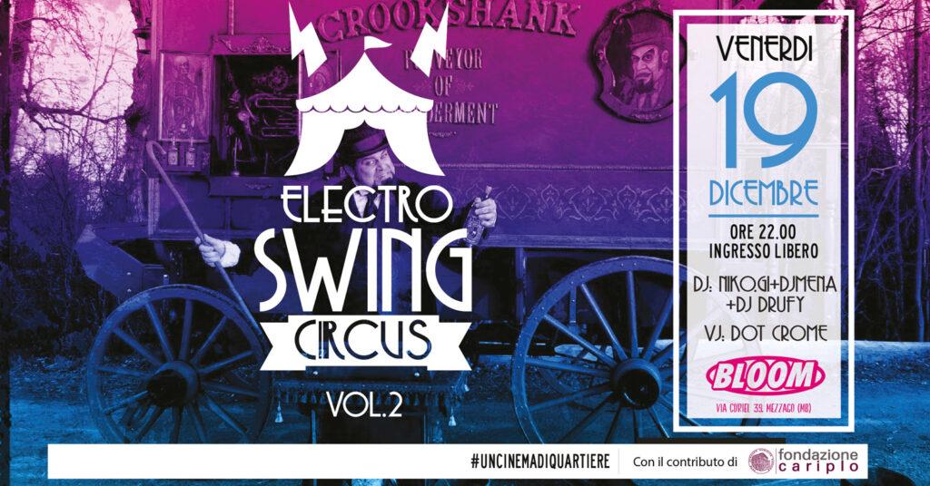 Flyer degli Electro Swing Circus. 2014