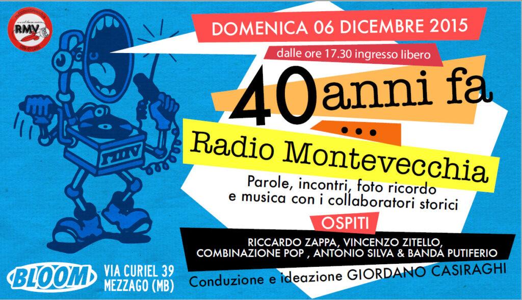 Flyer di 40 anni fa Radio Montevecchia. 2015
