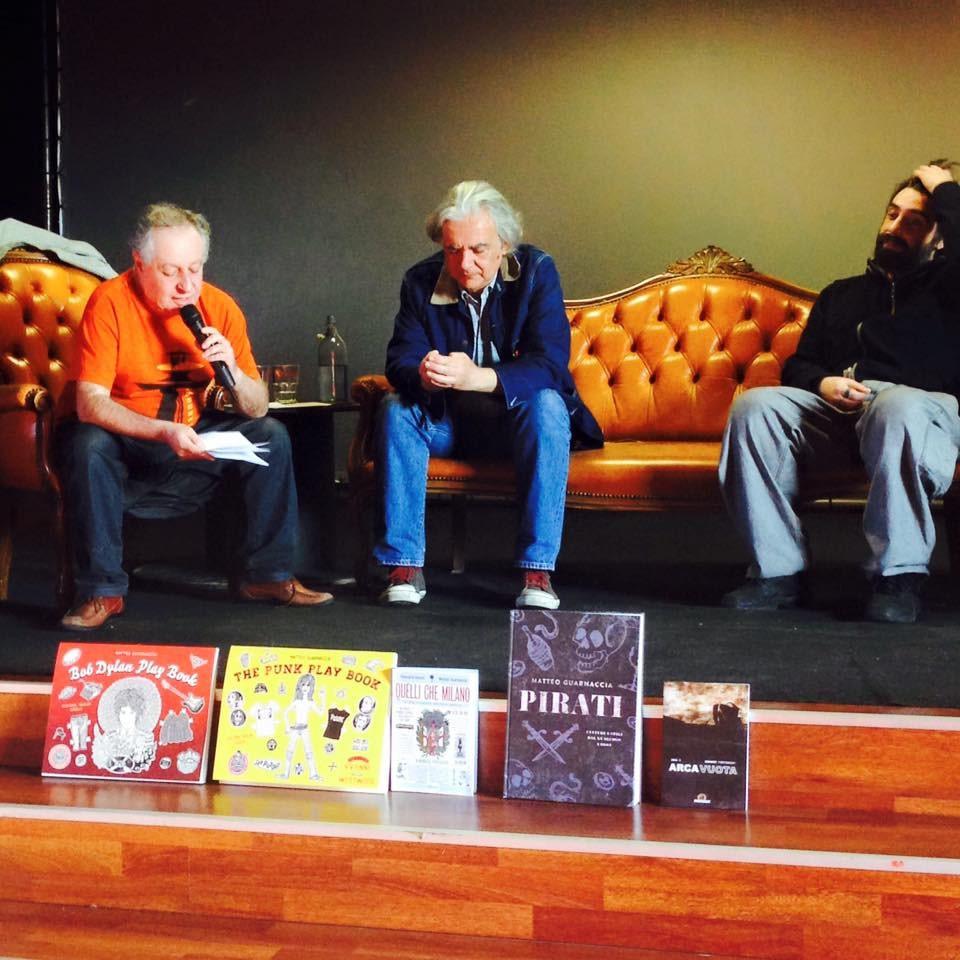 Matteo Guarnaccia, intervistato da Massimo Pirotta, presenta i suoi libri Beat & Mondo Beat e Almanacco Psichedelico. 1996
