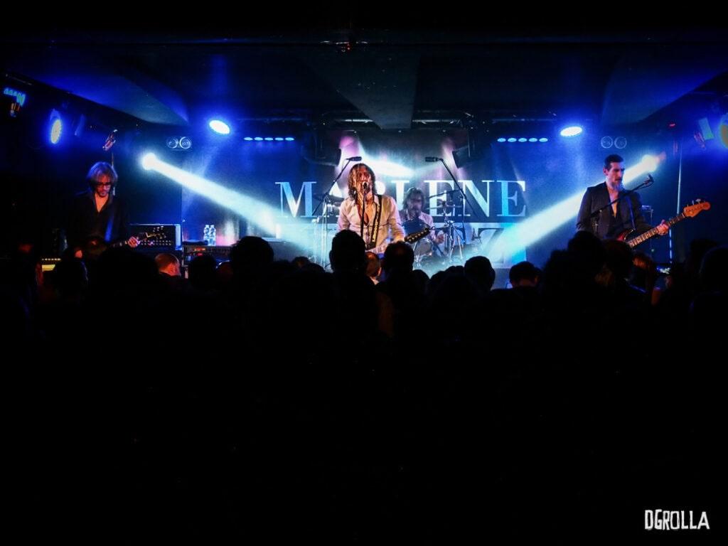 Marlene Kuntz sul palco. 2017. La band piemontese si è esibita per due sere, entrambe sold-out, nel concerto per i venti anni del loro secondo album Il vile del 1996.