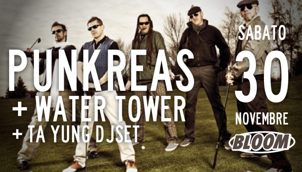 Flyer del concerto dei Punkreas. 2010. Hanno suonato molte volte sia a Mezzago sia nei festival organizzati da Bloom.