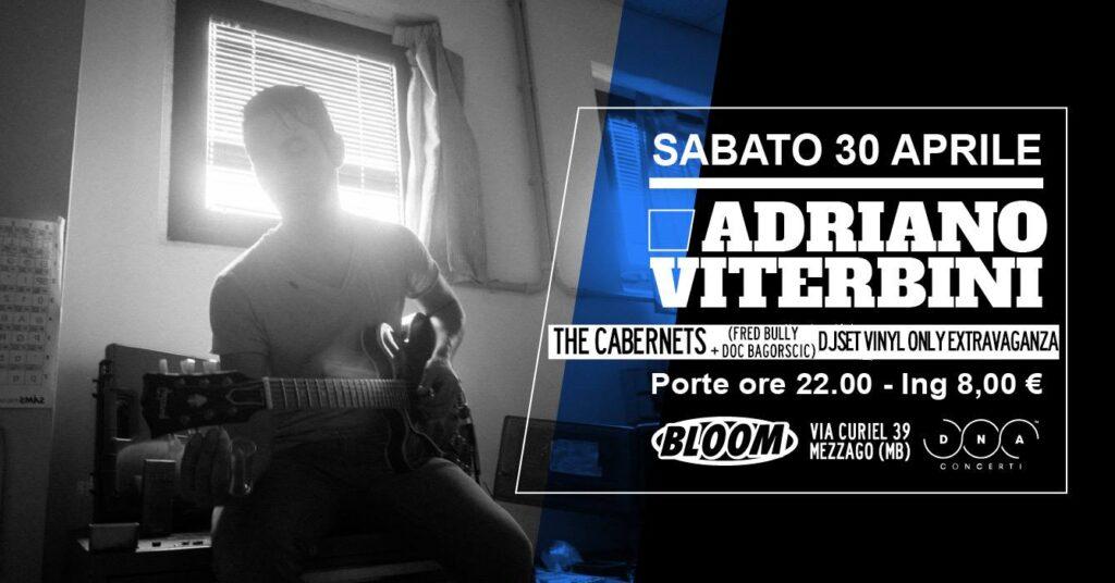 Flyer del concerto di Adriano Viterbini, con la presentazione al pubblico del suo secondo lavoro Film O Sound, in una originale interpretazione italiana del blues. 2016