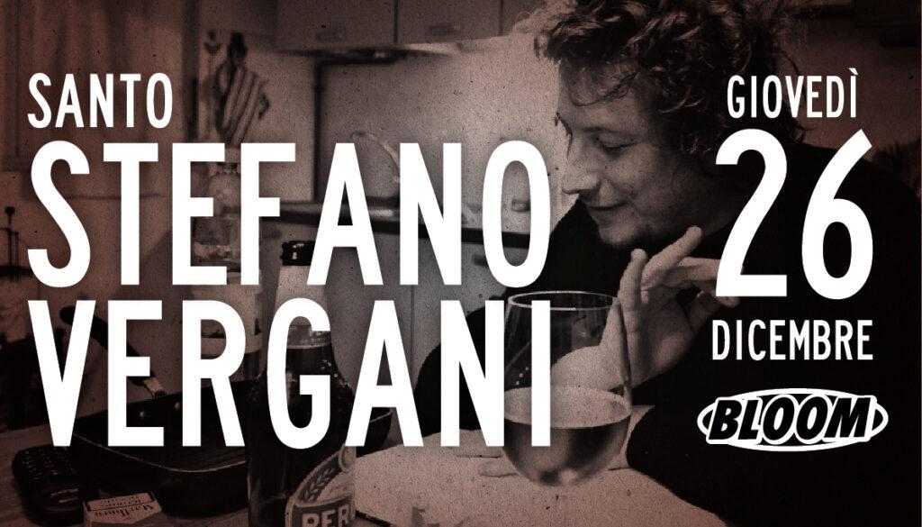 Flyer del concerto di Stefano Vergani, programmato per il 26 dicembre 2017
