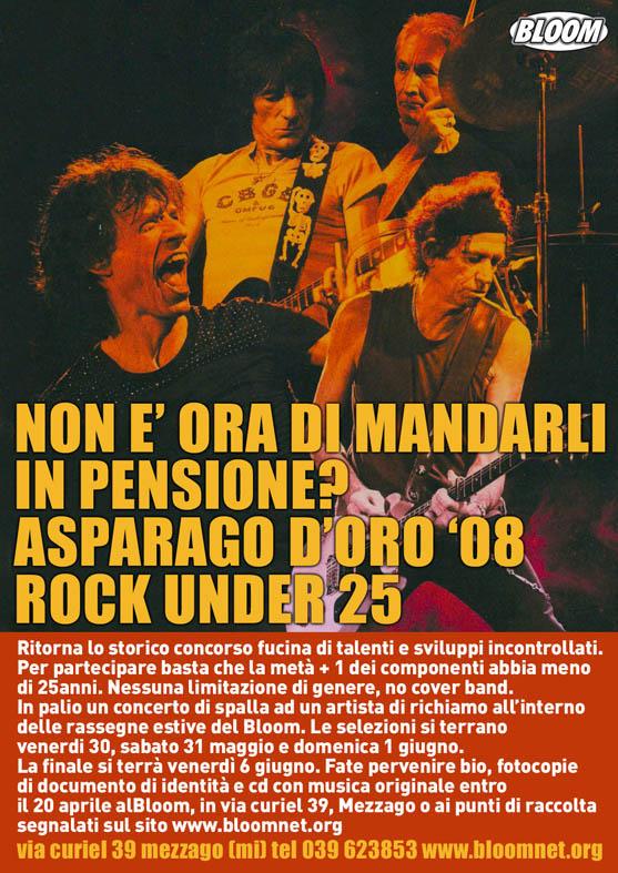 Flyer per il contest di band giovanili L'Asparago d'oro. 2008