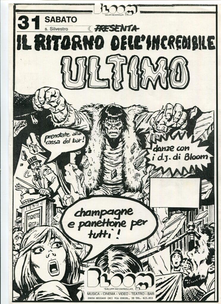 Volantino per la festa di capodanno Il ritorno dell'incredibile ultimo. 1994