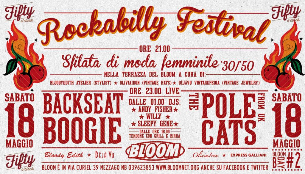 Flyer del Rockabilly Festival sulla terrazza. 2013