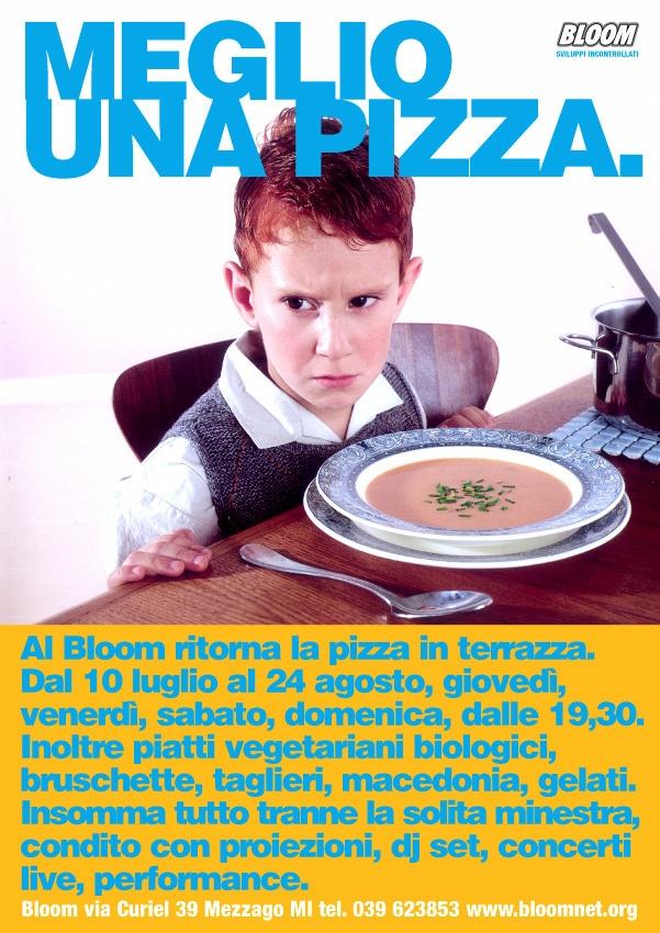 Flyer Premiata Pizza Bloom. 2013