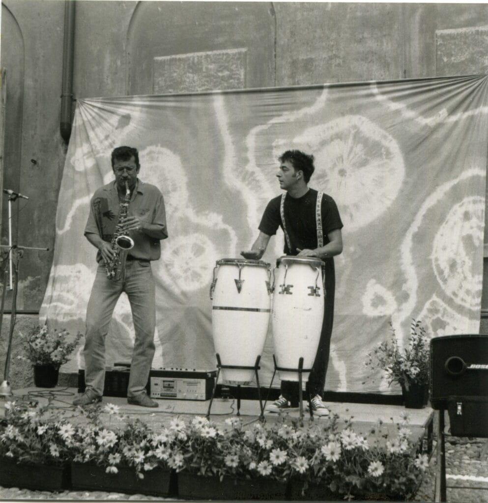 Il Pittillo/Barbieri Duo si esibisce durante l'inaugurazione. 1992