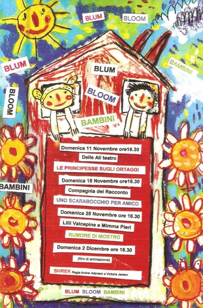 Locandina della rassegna Blum Bloom Bambini. 2001