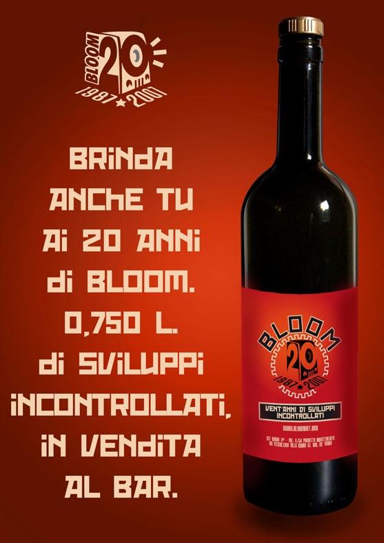 Flyer che pubblicizza il vino Venti Anni di Sviluppi Incontrollati. 2007