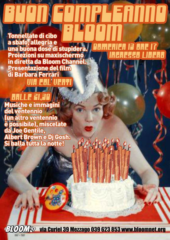 Flyer per la festa dei 20 anni. 2007