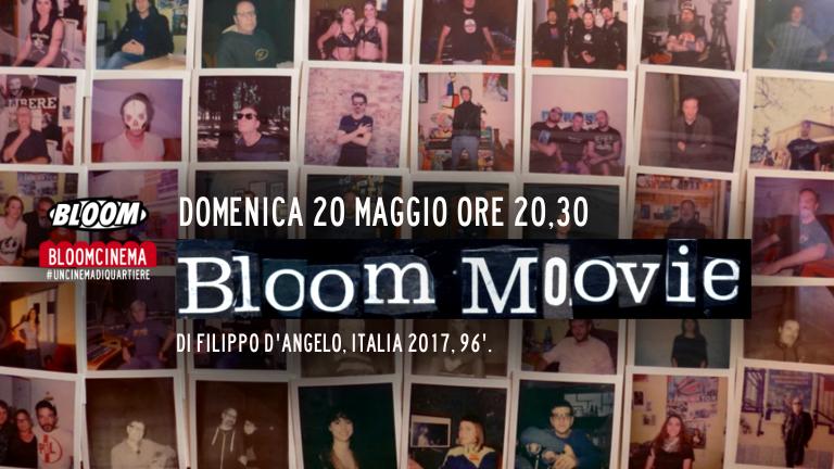 Flyer della presentazione al pubblico del film Bloom Movie di Filippo D'Angelo. 2017