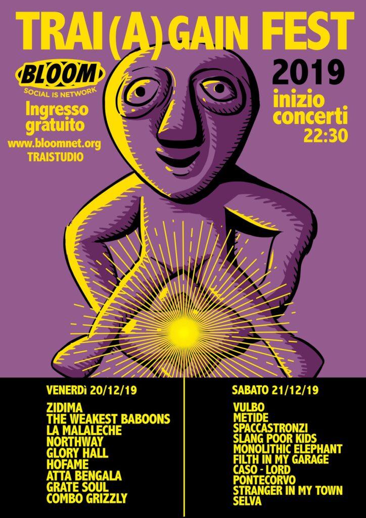 Flyer del Trai(a)gain Fest. 2019.